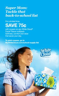 Save 75¢ on White Cloud for #backtoschool! To print your #coupon, go to http://mywhitecloud.com/school-supply-list.