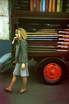Artist Pauline Boty photographed in London (1962)