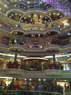 Great look at several floors aboard the Royal Caribbean Jewel of the Seas
