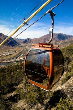 Take in the views in a unique way on the Iron Mountain Tramway at Glenwood Caverns in Glenwood Springs, Colorado! www.visitglenwood.com