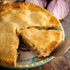 Made with a regional cheese, this humble and homely Lancashire cheese and onion plate pie, from Only Crumbs Remain is full of flavour and comfort.#britishrecipe #onlycrumbsremain #cheeserecipe #pie Lancashire Cheese, Cheese And Onion Pie, Cheese Recipes, Veggie Recipes, Dinner Recipes, Healthy Recipes, Pie Plate, Food Print, Favorite Recipes