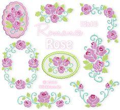 Rose Mug Rugs 4x4