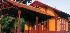 """Minnehaha Depot Built in 1875 and referred to as the """"Princess"""" because of its delicate gingerbread canopy, Minnehaha Depot stood on the first railroad line west of the Mississippi River to connect Minneapolis with Chicago."""