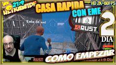Como Empezar RUST #2 CASA RAPIDA CON EME Gameplay  Español 21:9
