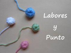 Aprende a tejer un boton de lana a ganchillo o crochet - YouTube
