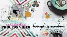 SCRAPBOOKING process video || Everyday sunshine ♥