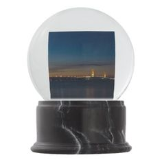 Mighty Mac At Night Pano Snow Globe - photography gifts diy custom unique special