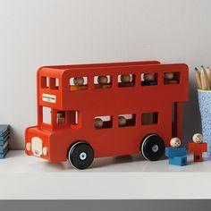 Wooden London bus