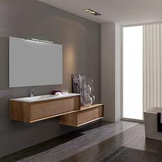 Lækkert design til badeværelsesmøbel, men måske i forkert farve.