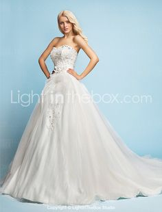 Lanting Bride® A-line / Princess Petite Wedding Dress - Classic & Timeless / Elegant & Luxurious Vintage Inspired / Sparkle & Shine Court 2017 - $199.99