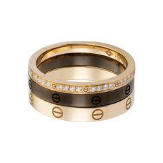 LOVE ring, three bands