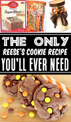 Reeses Pieces Cookies Recipe - Chocolate Cake Mix Cookie! These EASY cookies are soft, chewy, ridiculously addictive & will disappear as fast as you can make them!! Go grab the recipe and give them a try this week! Reeses Pieces Cookie Recipe, Reese's Pieces Cookies, Cake Mix Cookie Recipes, Delicious Cookie Recipes, Best Cookie Recipes, Yummy Cookies, Dessert Recipes, Baking Recipes, 4 Ingredient Desserts
