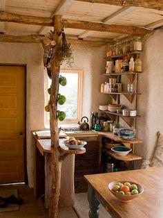 Best Tiny House Kitchen and Small Kitchen Design Ideas For Inspiration. tag: small kitchen ideas, tiny house interior, tiny kitchen ideas, etc. Küchen Design, Home Design, Design Ideas, Clever Design, Design Inspiration, Cob House Plans, House Journal, Bohemian Kitchen, Cozy Kitchen