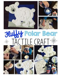SNOW Much FUN!! Fluffy Polar Bear Tactile Craft for kids!