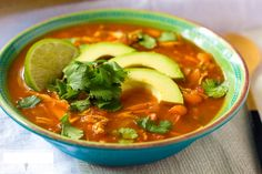 ***Paleo Chicken Tortilla Soup*** In this healthy version of Chicken Tortilla Soup, you don't need to add cheese or tortilla strips because this  soup is full of flavor on its own!