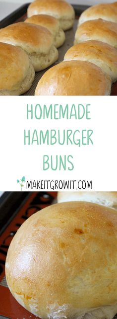 Skip the hassle of finding good, fresh hamburger buns at the store and make them yourself with this delicious and easy recipe by Make It. Grow It. Click here to read now or Pin It to save for later.
