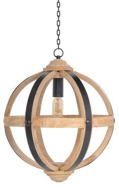 Globe 1-Light Pendant, Natural | Lighting by Go Home | One Kings Lane