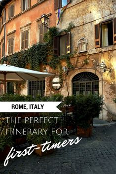 A travel guide to Rome, Italy. The perfect itinerary for a trip to Rome. Everything you need to know on what to do, eat, see, on your Italian vacation!  #italytravel