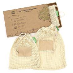 VeggieBag MAXI - Starter Kit | Wiederverwendbare Obst- & Gemüsebeutel | Aus recycelten PET-Flaschen, lebensmittelecht & waschbar | von ChicoBag Jute, Burlap, Reusable Tote Bags, Inspiration, Life Hacks, Think, Zero Waste, Sustainability, Household