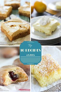 I am so excited to bring you the Top 10 Recipes of 2015 on Mandy's Recipe Box! These are posts that were published in 2015 and all but one are desserts. I guess you are all sugar lovers like me!