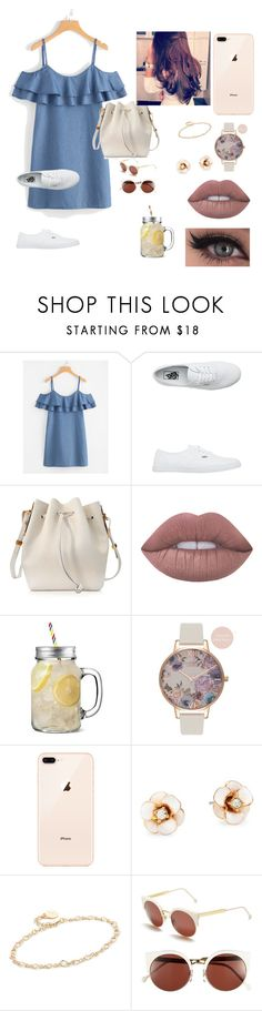 """Untitled #610"" by suandergoncalves on Polyvore featuring WithChic, Vans, Sophie Hulme, Lime Crime, Olivia Burton, Kate Spade, Cloverpost and RetroSuperFuture"