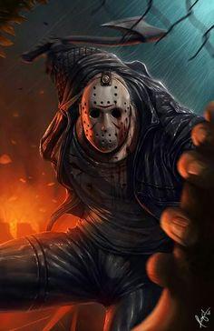 Jason Voorhees - Friday the - Ceasar Ian Muyuela Jason Voorhees, Jason Friday, Friday The 13th, Horror Icons, Horror Films, Horror Movie Characters, Nerd, Arte Horror, Fan Art