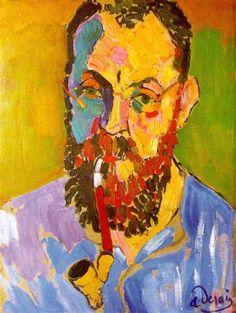 Portrait of Matisse - Andre Derain