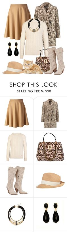 """Designer Scervino"" by hastypudding ❤ liked on Polyvore featuring Ermanno Scervino, Carven, Burberry, Hat Attack and Topshop"