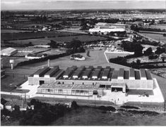 Aerial view of offices and bottling plant for John Power and Sons Ltd., Robinhood Road, Walkinstown, constructed in This building has been remodelled and is now part of the Irish Distillers' plant. John Power, Irish Drinks, Irish Landscape, Castles In Ireland, Irish Culture, Irish American, Old Factory, Irish Traditions, Factories