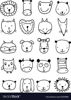 Art Drawings For Kids, Doodle Drawings, Drawing For Kids, Easy Drawings, Art For Kids, Crafts For Kids, Owl Outline, Easy Doodle Art, Animal Doodles