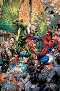 #Spiderman #Fan #Art. (Friendly Neighborhood Spider-Man Vol.1 #15 Cover) By: Scot Eaton. ÅWESOMENESS!!!