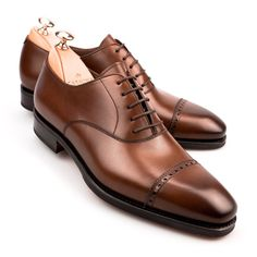 Carmina Cap-toe Oxfords -Brown calf $450 #oxfordshoes