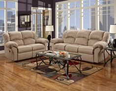 Flash Furniture Exceptional Designs Reclining Living Room Set in Sensations Camel Microfiber Home Furniture, Furniture Design, Microfiber Sofa, Sofa And Loveseat Set, Apartment Sofa, Wholesale Furniture, Reclining Sofa, Living Room Sets, Love Seat
