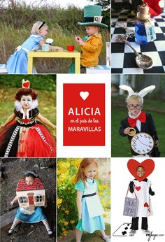 Disfraces para niños inspirados en el cuento clásico de Alicia en el País de las Maravillas Disney Family Costumes, Cute Costumes, Family Halloween Costumes, Group Costumes, Alice In Wonderland Tea Party Birthday, Alice Tea Party, Alice In Wonderland Costume, Halloween Sewing, Baby Halloween