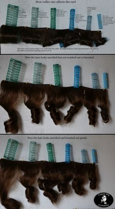 How the size of the roller affects the shape and size of the curl in the hair - from Custom Wig Company