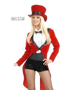 Magician Girl Ladies Circus Ringmaster Sexy Lion Tamer Fancy Dress Costume cb365222a54b