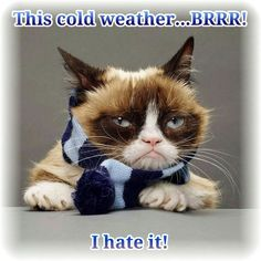 I hate cold weather!