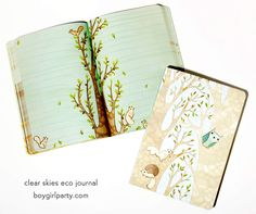 Clear Skies Eco Journal by Susie Ghahremani / shop.boygirlparty.com