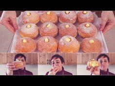 BOMBOLONI ALLA CREMA Ricetta Facile - Custard Filled Donuts Easy recipe - YouTube Italian Pastries, Italian Desserts, Mini Desserts, Delicious Desserts, Bomboloni Recipe, Biscotti, Donut Recipes, Cooking Recipes, Donuts