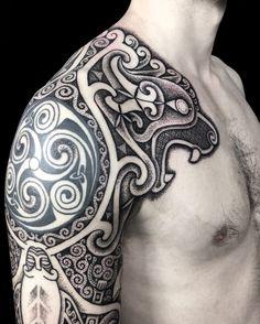 Wolves Of Cernunnos - Sacred Knot Tattoo