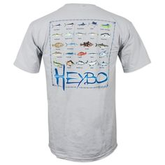 96ace84b5aa567 HeyBo Fish Chart T-Shirt - Gray