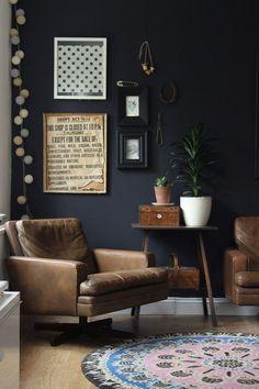 Black et Mat • Wohnzimmer Einrichtung Dekoration