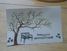 Embossed and watercolour card.