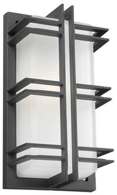 PLC 8012-BZ Gulf Modern Bronze Outdoor Wall Sconce Lighting - PLC-8012-BZ