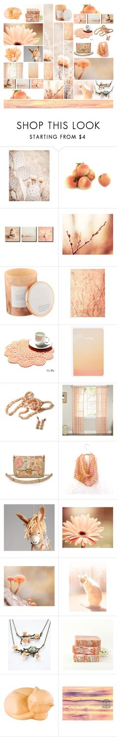 """Just Peachy"" by andreadawn1 ❤ liked on Polyvore featuring D.L. & Co., Burke Decor, A&B Home and Keen Footwear"