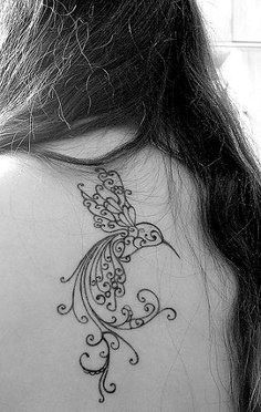 35 Ultra Sexy Back Tattoos for Women-like this one- maybe smaller scale