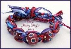 Shamballa bracelet handmade kashmiri beads by KathrynsJewelryDesig,