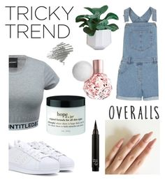 """Overall day☪"" by outfitonpointsl on Polyvore featuring adidas, Dorothy Perkins, TrickyTrend and overalls"