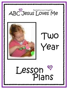 2 Year Curriculum Weekly Bible Lesson Plan. Includes 3, 4 and 5 year old