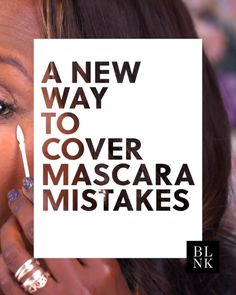 A New Way to Cover Mascara Mistakes #blinkbeauty #beautytutorial #makeuptutorial #makeuphack #mascara